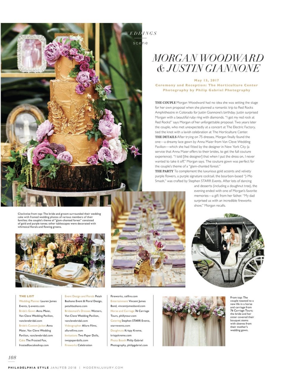 77f6ad0d665 We were featured in the January February 2018 issue of Philadelphia Style  for our work on Morgan and Justin s wedding.