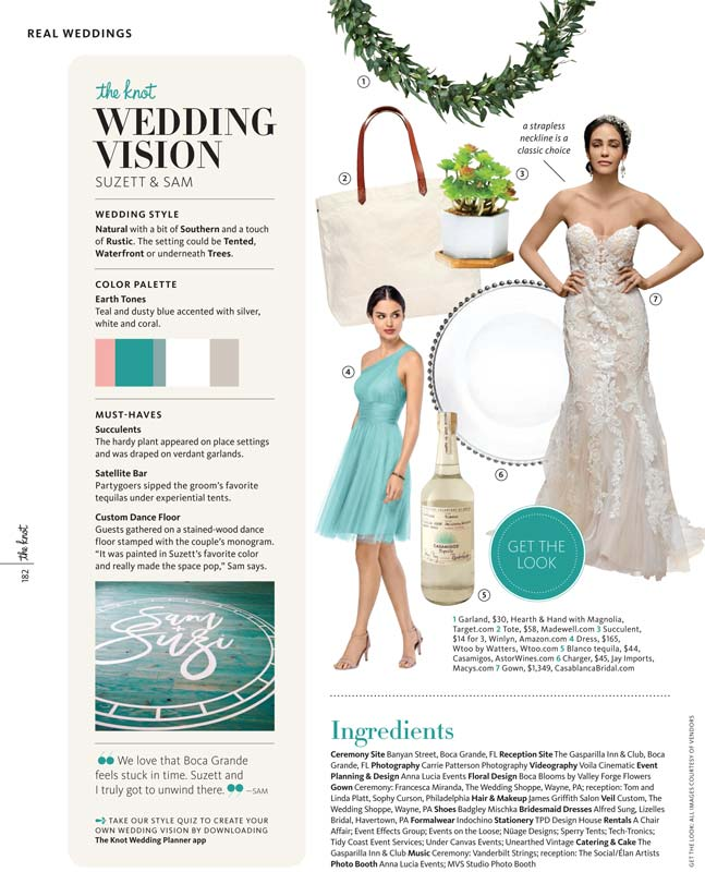 1ea748ee84c8 We were featured in the summer 2018 issue of The Knot for our work on  Suzett and Sam's island wedding!